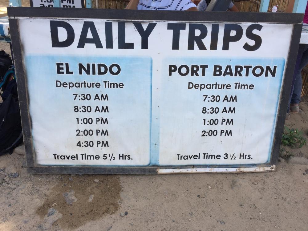 Sabang El Nido Transfer Service Palawan Philippines Rates TravelAnyway