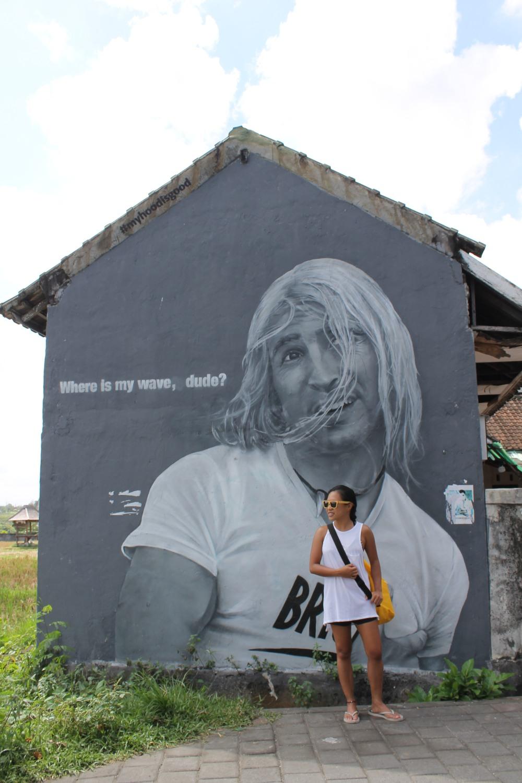 Canggu artwall Bali Travelanyway