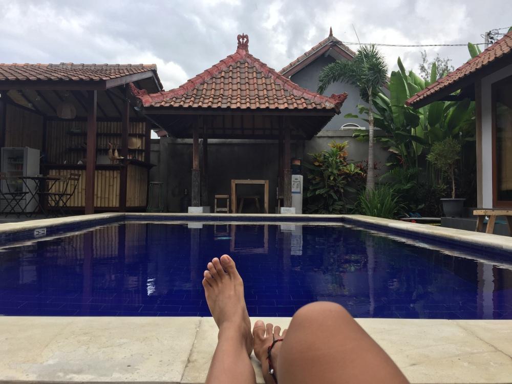 Canggu Elements BnB Pool side Hostel Hostelworld Bali Travelanyway