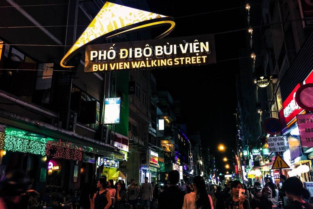 Bui Vien Walking Street Saigon Ho Chi Minh Vietnam Travelanyway