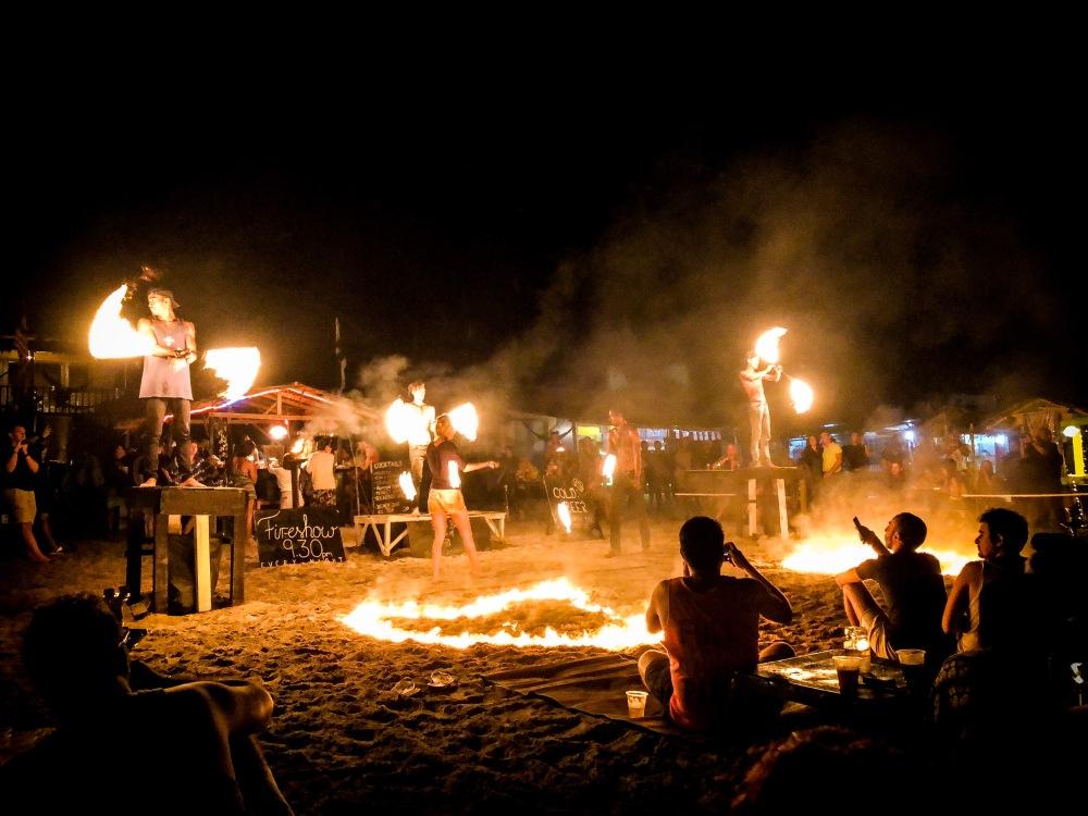 Fire Dance Show Perenthian Island Malaysia Travelanyway