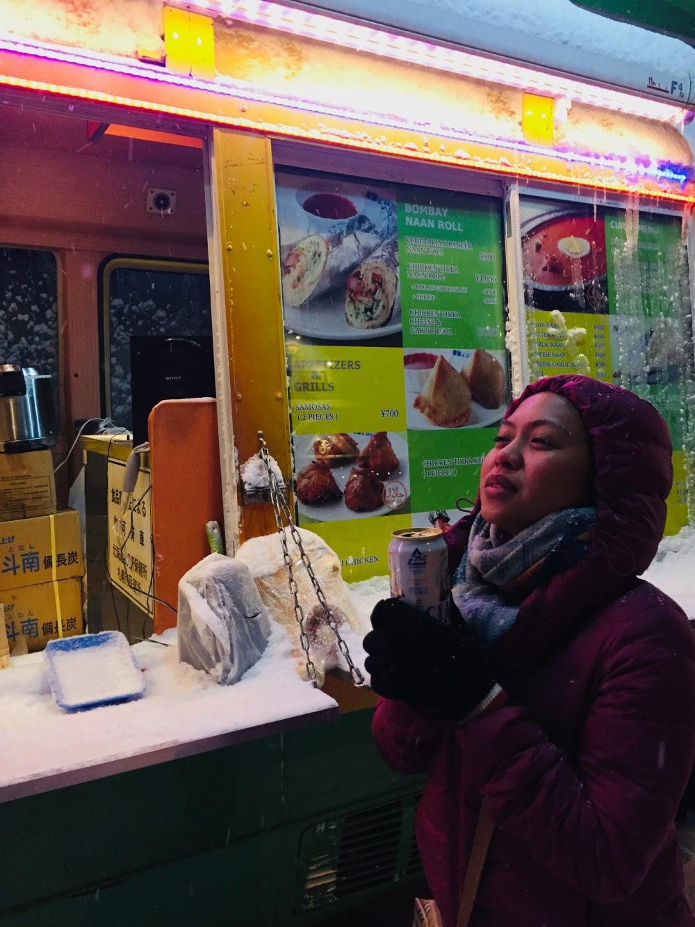 Food Truck midnight snack niseko Japan Travelanyway
