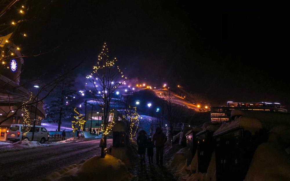 Niseko Japan in a winter night Travelanyway