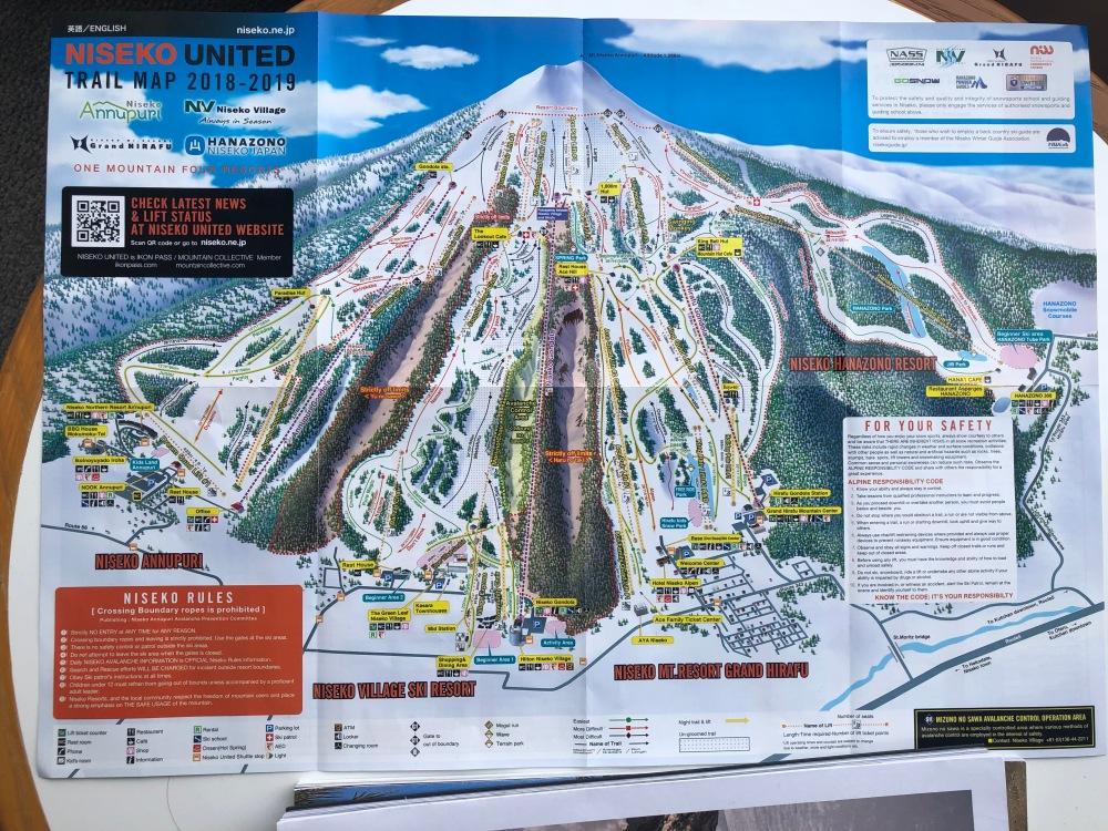 Niseko Ski Trail Map Travelanyway