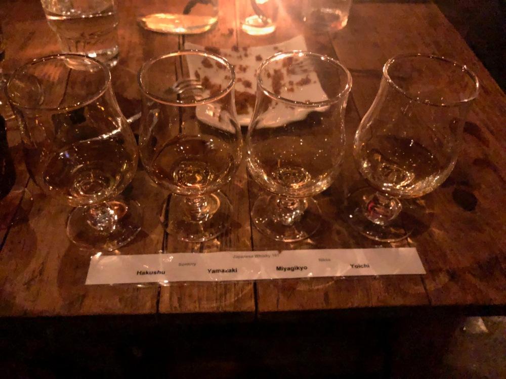 Whisky Tasting in Bar Gyu Niseko Japan Travelanyway